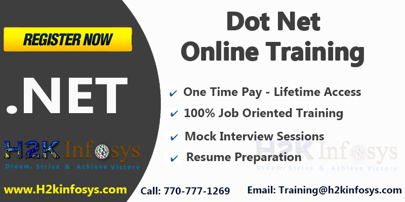 .Net Online Training and Job Placement Assistance