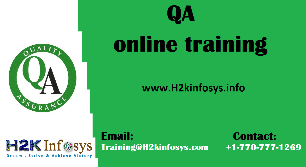 Best QA Online Training Course in USA