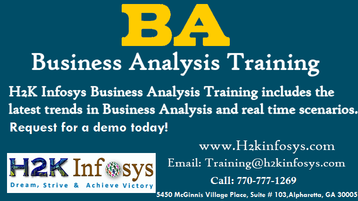 Business Analyst Online Training By H2kinfosys