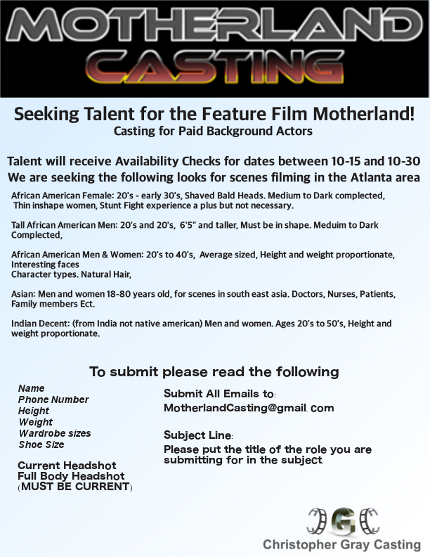 Feature Film Seeking Background with Indian Decent