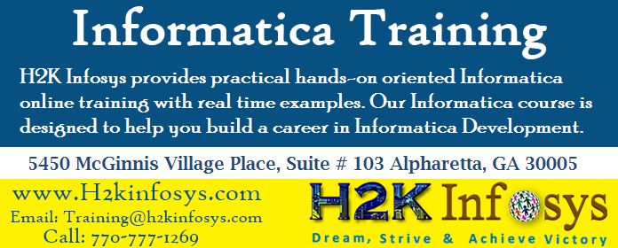 Informatica Online Training Course and Placement
