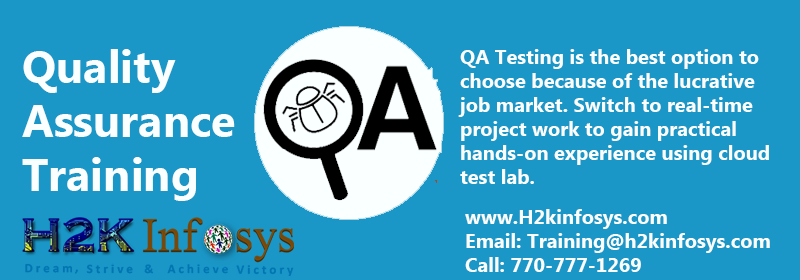 QA Training Classes and Placement Assistance