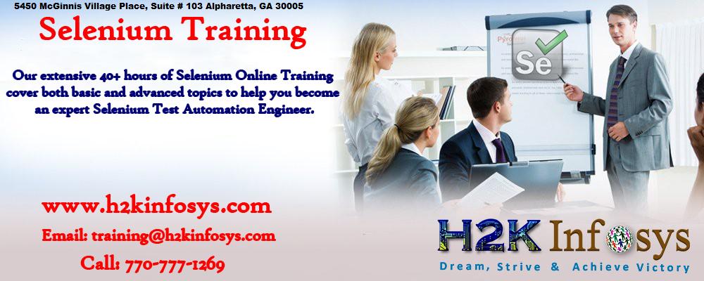 Selenium Webdriver Online Training Classes