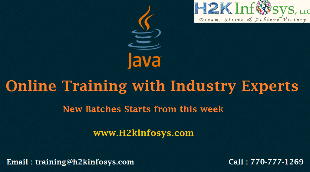 Special Offer on Java Online Training Course
