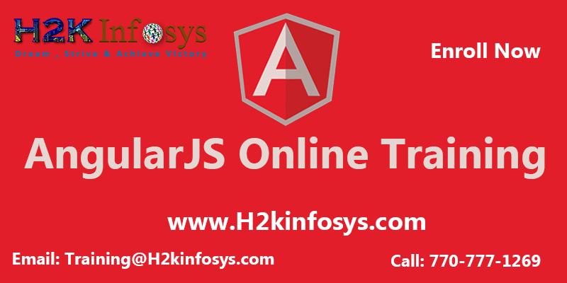 AngularJS Training provided by H2K Infosys LLC