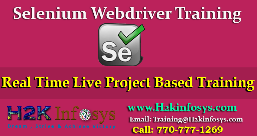 Best Selenium Online Training Course in USA