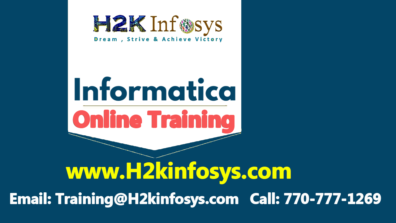 Informatica Online Training and Job Assistance