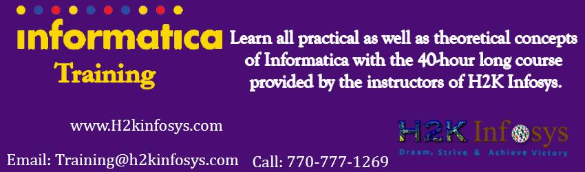 Informatica Training Classes