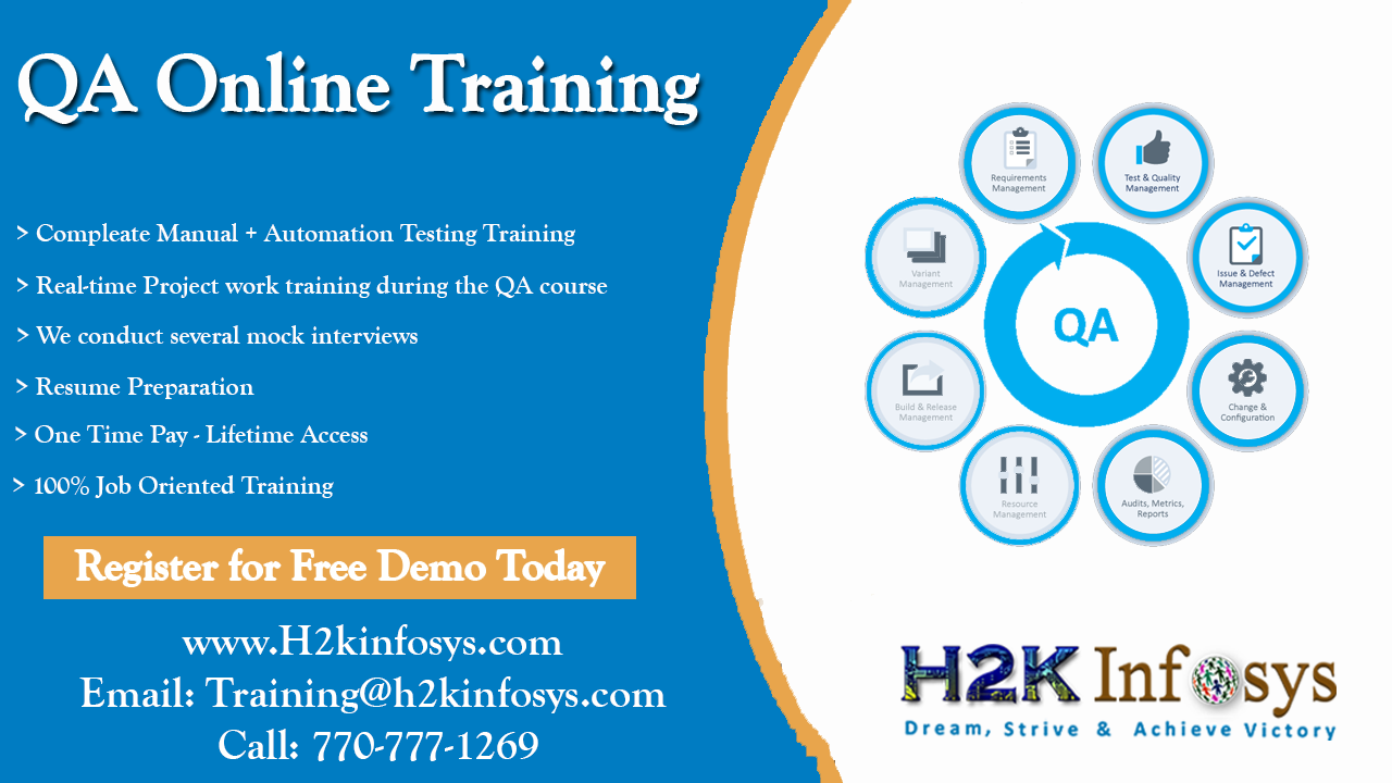 QA Online Training-Attend free DEMO classes