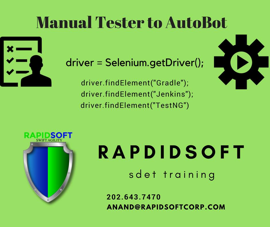 RapidSoft QA Automation and SDET Training