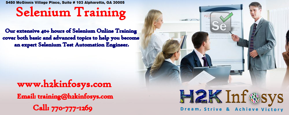 Selenium Webdriver Online Training BY H2kinfosys