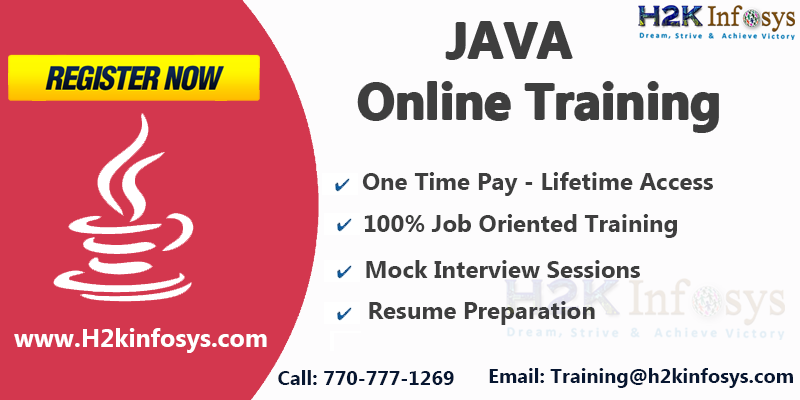 Special Offer on Java Online Training