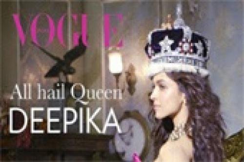 deepika padukone the queen of bollywood vogue photo shoot
