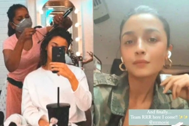 Alia Bhatt is back to the Sets of RRR