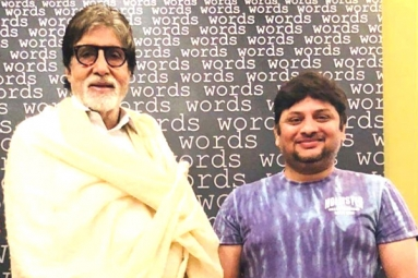 Big B Poses With Surendar Reddy