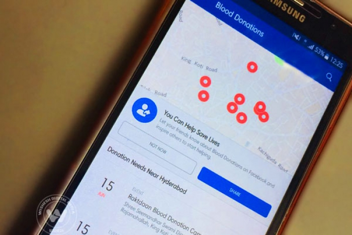 Facebook Unveils Platform for Blood Donations