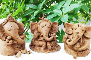 How to Make Eco-Friendly Ganesh Idol from Clay at Home