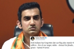 gautam gambhir, gautam gambhir turns politician, forget jail gautam gambhir s suggestion for indian flag shamers, Indians abroad