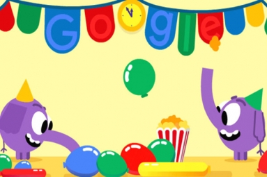 Google Doodle Marks New Year's Eve With A Pair Of Cute Elephants