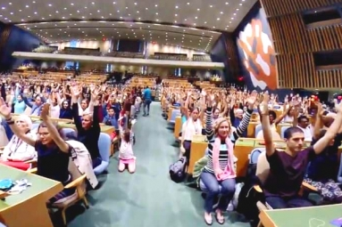 International Day of Yoga 2019: Indoor Yoga Session Held at UN General Assembly