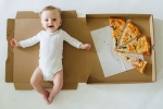 Baby Monthly Milestone Pictures, Creative Baby Monthly Milestone Picture ideas, mom documents her baby s monthly growth with pizza check out creative baby monthly milestone pictures, Motherhood