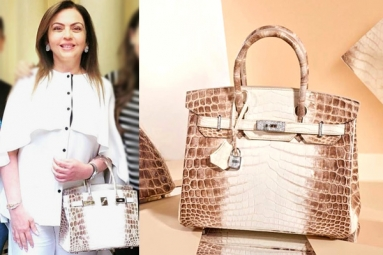 Nita Ambani's Crocodile Skin Handbag Worth Rs 2.6 Cr, Studded with 240 Diamonds Goes Viral