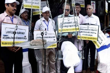 Protests in Kerala Against Body Weighing by Airlines