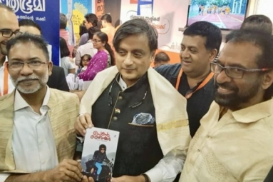 Shashi Tharoor Launches Indian Author's Book at Sharjah Book Fair