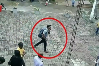 Watch: Footage of Suspected Suicide Bomber Entering Sri Lankan Church Released