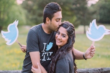 Indian Couple Met On Twitter Had Twitter-themed Wedding