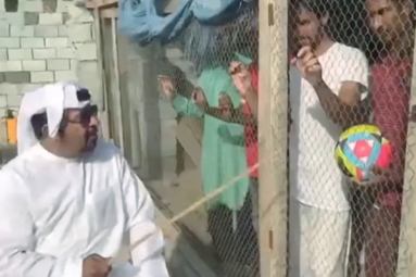 Watch: UAE Man Locks up Indian Football Fans in Cage Before Match