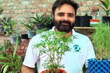 Young NRI Entrepreneur Returns to His Native Place with an Intent to Save Water in Gardening