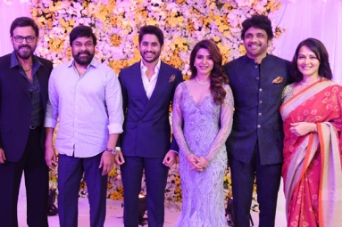 Nag hosts a lavish reception for Chaitu and Samantha
