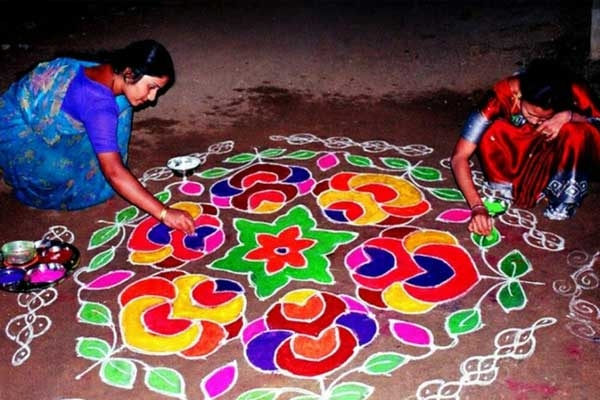 Spiritual and Cultural Significance of Making Rangoli Outside the House