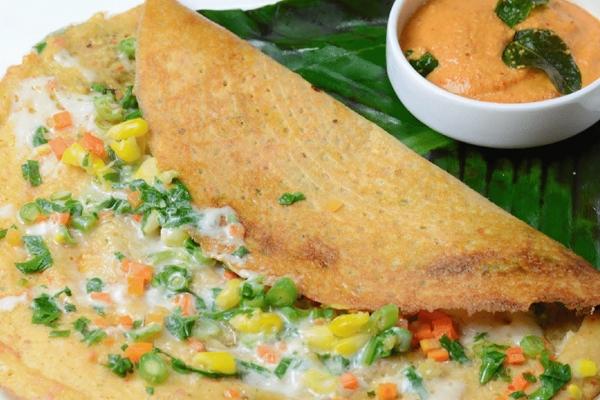Vegetable Cheese Dosa recipe!
